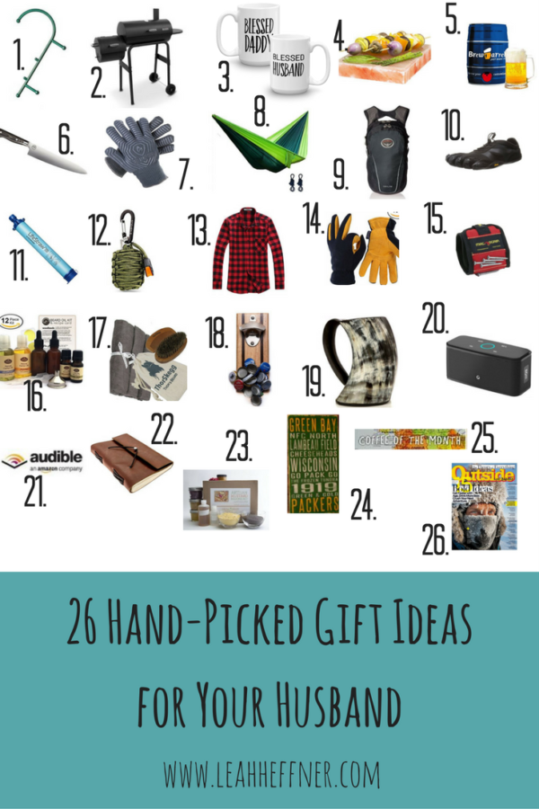 26 Hand-Picked Gift Ideas for Your Husband - Life Around the Coffee Cup - www.leahheffner.com