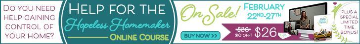 Help for the Hopeless Homemaker Banner