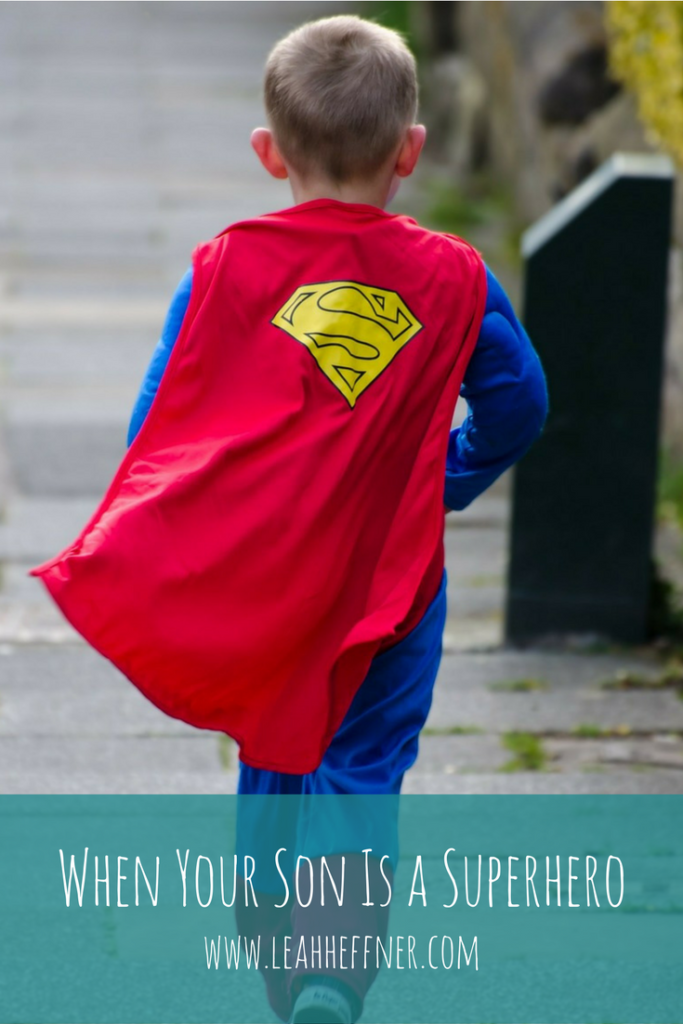 When Your Son is a Superhero - Life Around the Coffee Cup - www.leahheffner.com